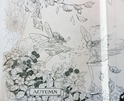 Endpapers, 'Autumn' from 'The Wonder Book of Nature'