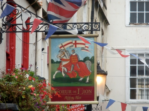 flags and a friendly pub