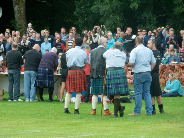 Watching the haggis-eating competition at our local Highland Games. Seriously, you wouldn't want to get any closer.