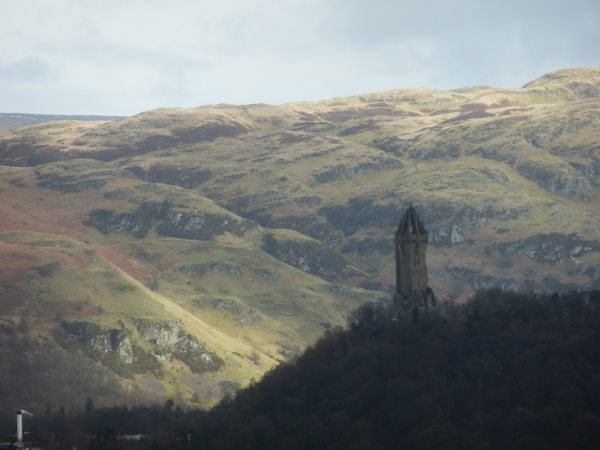 The Wallace Monument seen from Stirling Castle